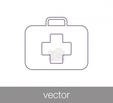 Illustration for First aid kit icon. vector illustration - Royalty Free Image