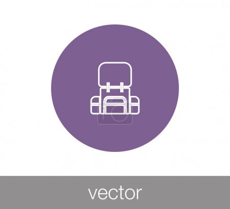 Illustration for Backpack flat icon, vector, illustration - Royalty Free Image
