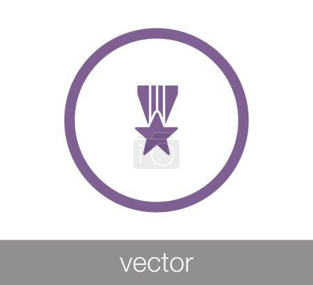 Trophy flat icon