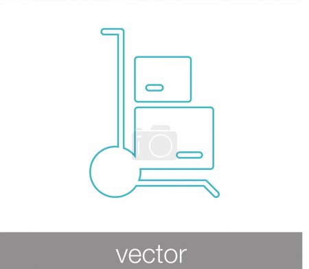 forklift sign icon