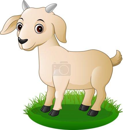 Illustration for Vector illustration of Cartoon goat posing - Royalty Free Image