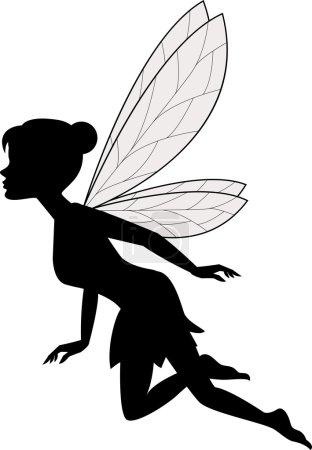 Cute fairy flying