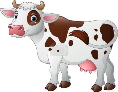 Happy cartoon cow