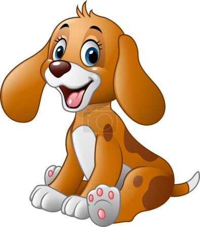 Cute little dog cartoon