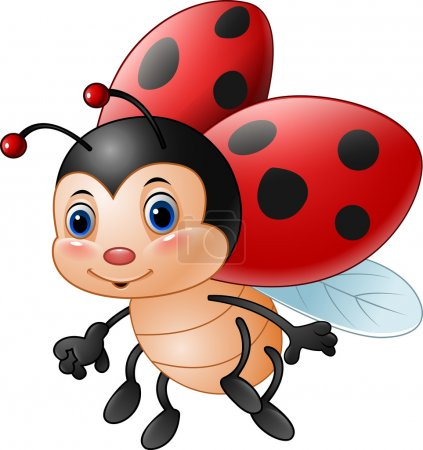 Illustration for Vector illustration of Cartoon funny ladybug - Royalty Free Image