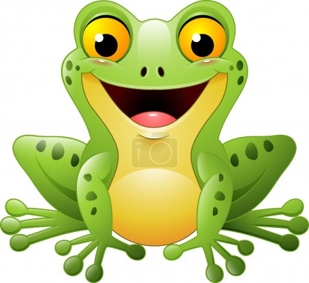 Illustration for Vector illustration of Cartoon cute frog - Royalty Free Image