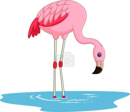 Cute Cartoon flamingo