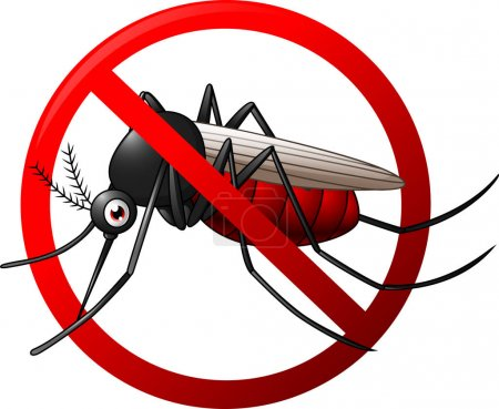Illustration for Vector illustration of Stop mosquito symbol - Royalty Free Image