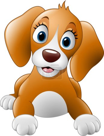 Cartoon cute dog