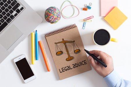 Photo pour Concept d'affaires, des conseils juridiques - image libre de droit
