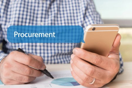 PROCUREMENT WORD ON CHAT BUBBLE