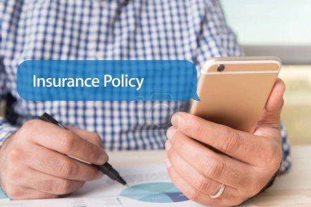 COMMUNICATION TECHNOLOGY CONCEPT: INSURANCE POLICY...