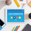 LEAD GENERATION CONCEPT ON TABLET PC SCREEN...