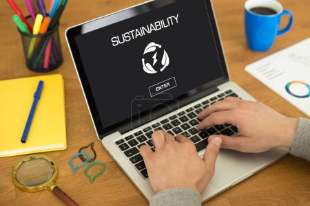 SUSTAINABILITY CONCEPT on screen