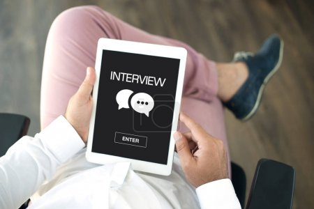 INTERVIEW CONCEPT on screen