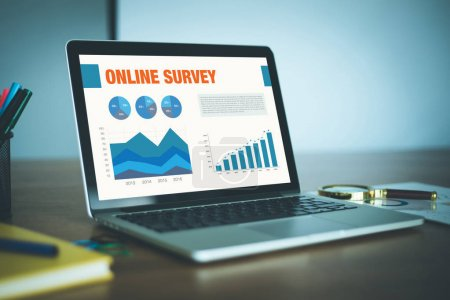 Screen with ONLINE SURVEY title