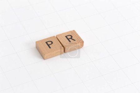 Photo pour PR social CONCEPT de style scrabble jeu - image libre de droit