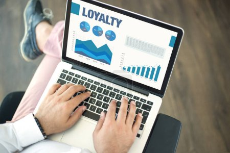 screen with LOYALTY Concept