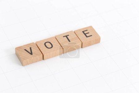 Photo pour Vote élection Concept de style de jeu scrabble - image libre de droit
