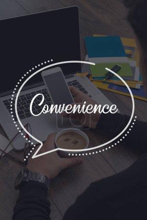 Photo pour Business Communication Concept confort technologique de travail - image libre de droit
