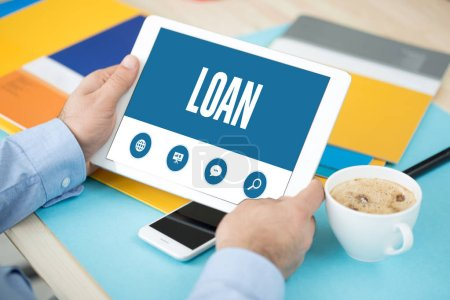 Photo for SHOWING LOAN SCREEN CONCEPT - Royalty Free Image