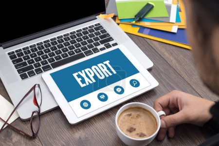 Photo for SHOWING EXPORT SCREEN CONCEPT - Royalty Free Image