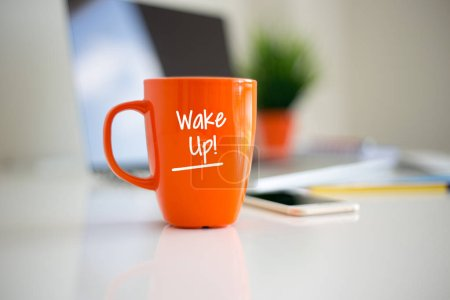 Photo for Wake Up Coffee Cup Concept - Royalty Free Image