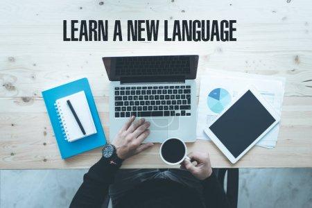 Foto de Comunicación tecnología educación y aprender un nuevo concepto de lengua - Imagen libre de derechos