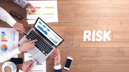 RISK concept, professionals team at work