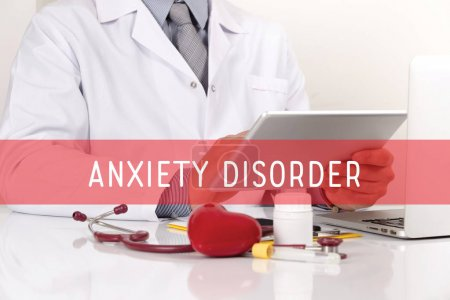 Photo for HEALTHCARE AND MEDICAL CONCEPT: ANXIETY DISORDER - Royalty Free Image