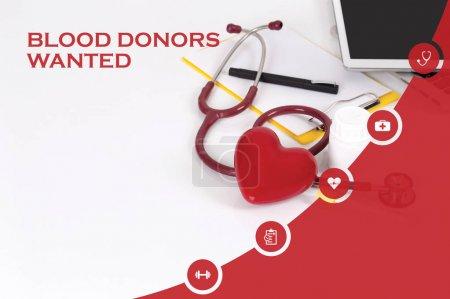 Photo pour Médecine, santé Concept: Les donneurs de sang voulait - image libre de droit