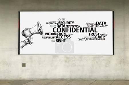 Business Concept: Confidental Word Cloud...