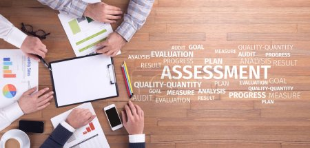 Photo for Business Concept: Assessment Word Cloud - Royalty Free Image