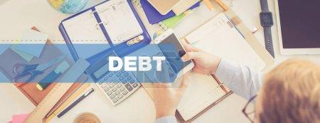Photo pour AFFAIRES, FINANCES CONCEPT : DEBT - image libre de droit