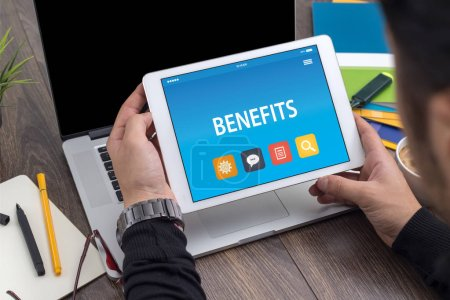 BENEFITS CONCEPT ON TABLET