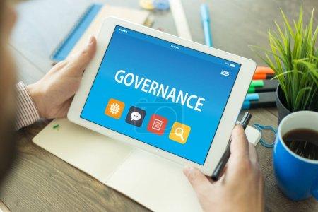 GOVERNANCE CONCEPT ON TABLET