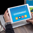 GOVERNMENT CONCEPT ON TABLET PC SCREEN...