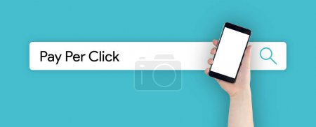 Photo for WEB SEARCH: PAY PER CLICK CONCEPT - Royalty Free Image