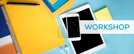 Tablet, smartphone and felt pen on desk