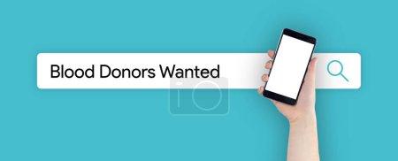 Photo pour Recherche sur le Web: Les donneurs de sang voulu Concept - image libre de droit