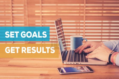 SET GOALS GET RESULTS CONCEPT