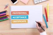 Předběžné převzetí certifikátu koncept