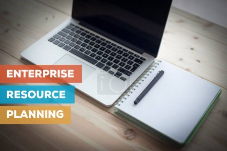 Photo for ENTERPRISE RESOURCE PLANNING CONCEPT TEXT - Royalty Free Image