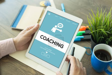 COACHING CONCEPT on screen