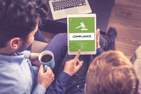 Compliance-Konzept auf dem Bildschirm