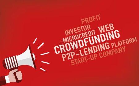 Crowdfunding Concept, illustration