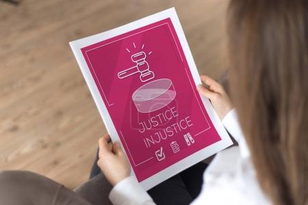 JUSTICE INJUSTICE CONCEPT