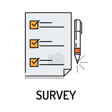 Survey Line Icon