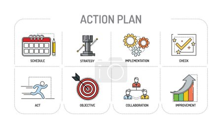 ACTION PLAN - Line icons Concept