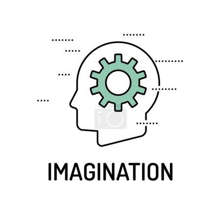 Illustration pour IMAGINATION Icône de ligne. Illustration vectorielle - image libre de droit